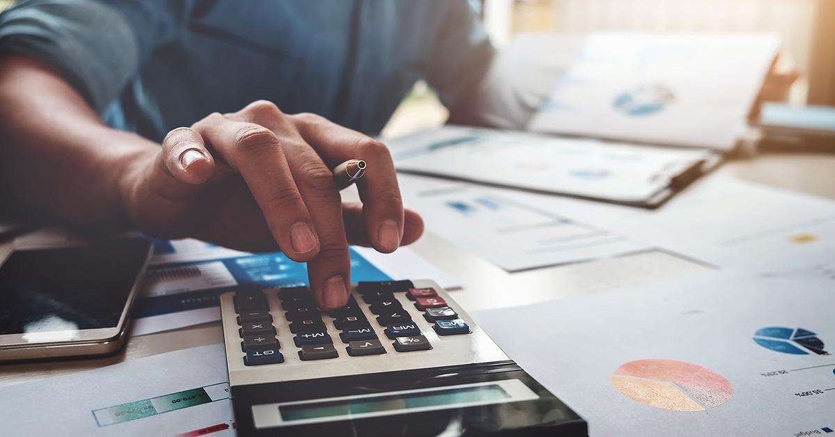 feuille de calcul, budget finance imôts
